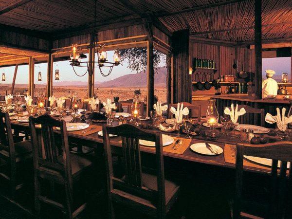 Wolwedans Dunes Lodge Namibia Dining