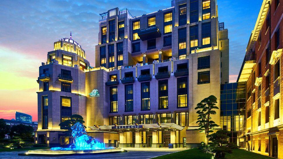 Bellagio Shanghai Hotel Exterior Night View