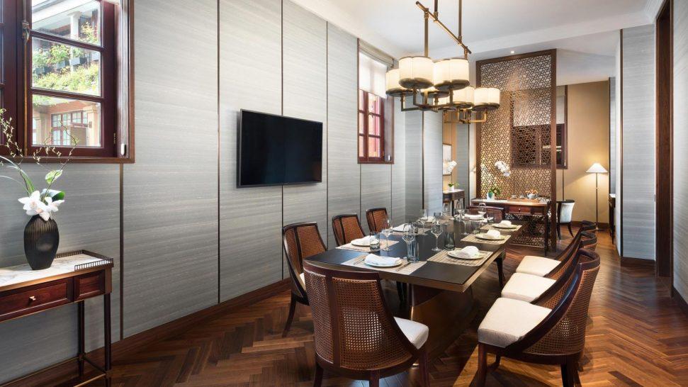 Capella Shanghai Jian Ye Li Shikumen Deluxe Villa Dining Room