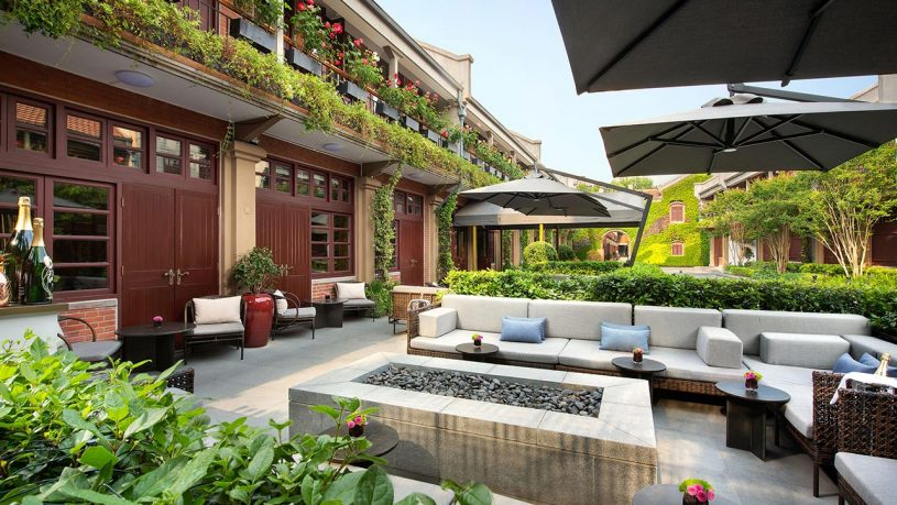 Capella Shanghai Jian Ye Li outdoor seating