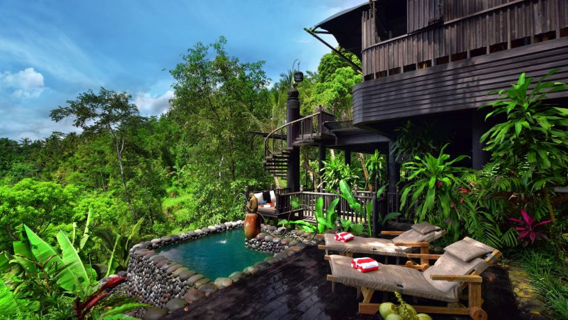 Capella Ubud Tent Saltwater pool and deck