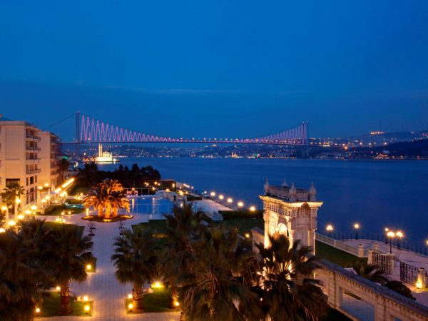 Ciragan Palace Kempinski bridge view