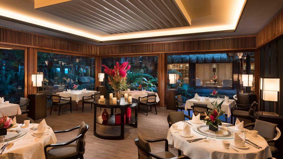 Conrad Bora Bora Nui Banyan Restaurant Interior