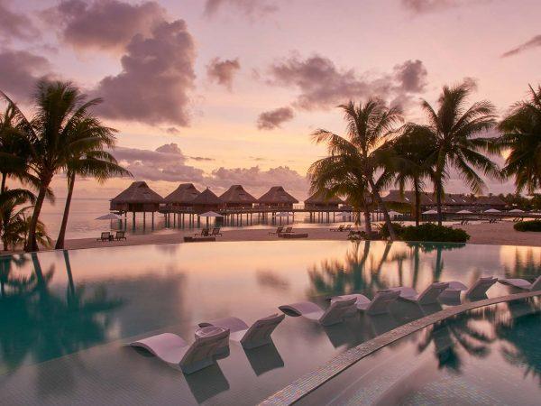 Conrad Bora Bora Nui Pool at Sunset