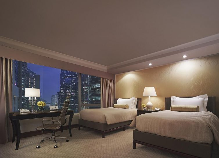 Conrad Hong Kong Twin Bed Deluxe Harbour View Room