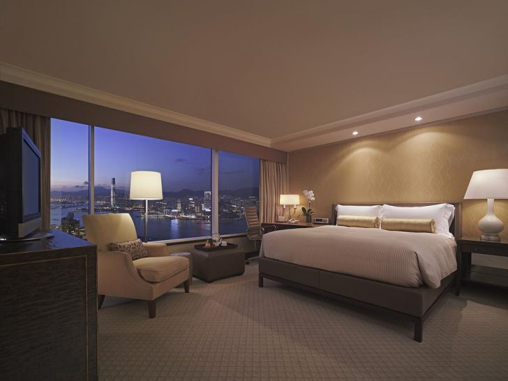 Conrad Hong Kong Twin Bed Deluxe Peak View Room