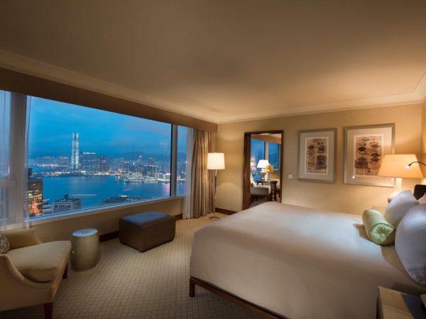 Conrad Hong Kong king Bed Deluxe Peak View Room