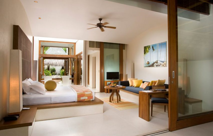 Conrad Maldives Rangali Island Deluxe Beach Villa Bedroom