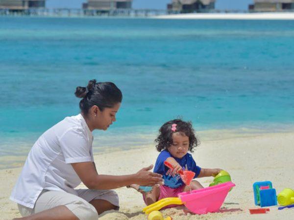 Conrad Maldives Rangali Island Kids Club Beach Activities