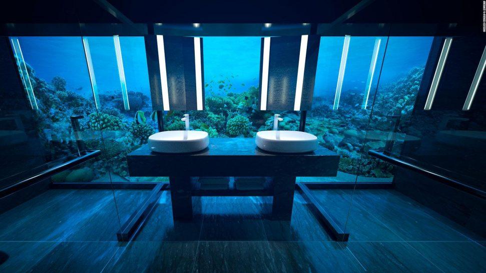 Conrad Maldives Rangali Island Muraka underwater villa bathroom