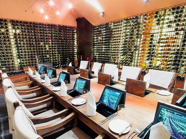 Conrad Maldives Rangali Island Private dining in The Wine Cellar