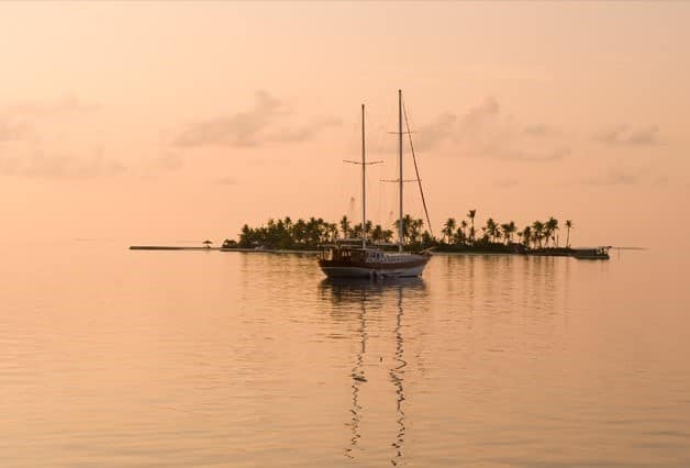 Conrad Maldives Rangali Island Sailboat