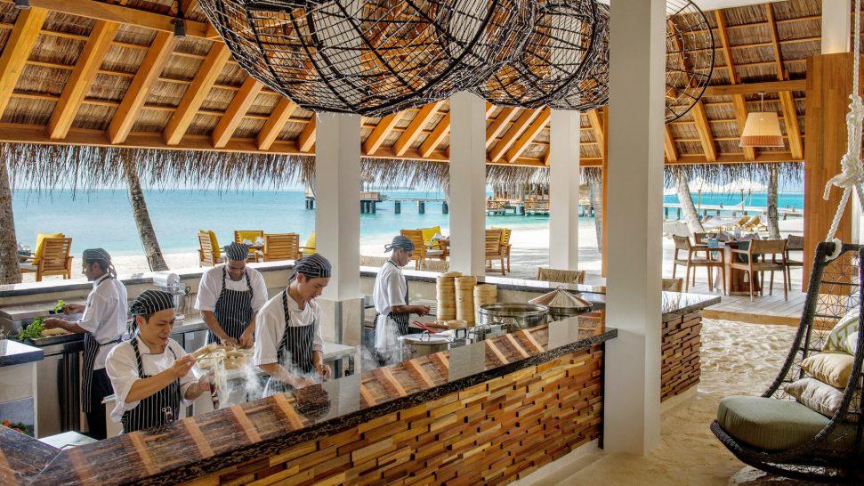Conrad Maldives Rangali Island Ufaa's ocean facing kitchen