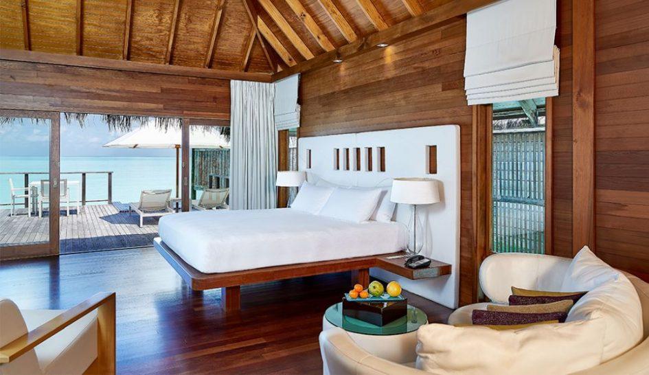 Conrad Maldives Rangali Island Water Villa bedroom