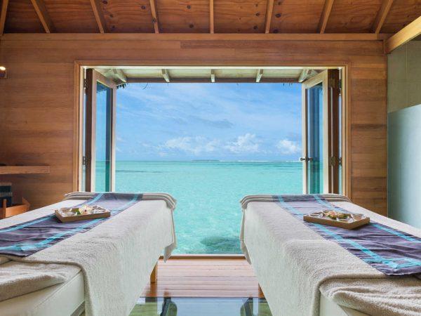Conrad Maldives Rangali IslandOver Water Spa treatment rooms