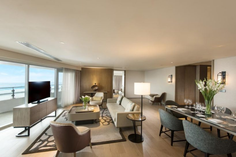 Conrad Manila Bay View Two Bedroom Ambassador Suite Balcony
