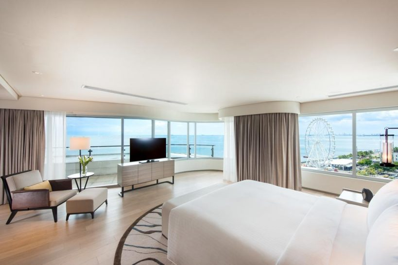 Conrad Manila Pool View King Deluxe Room Partial Bay View