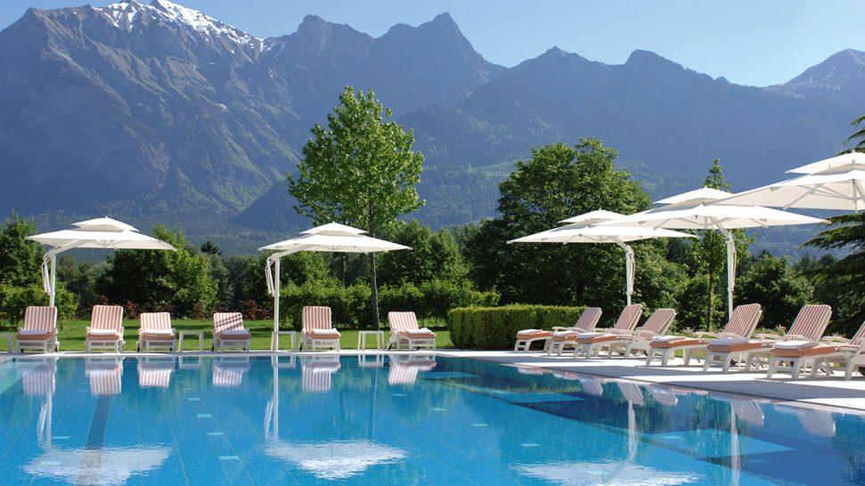 Grand Resort Bad Ragaz Pool View