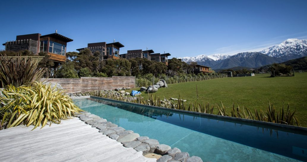 Hapuku Lodge and Tree Houses New Zealand Pool
