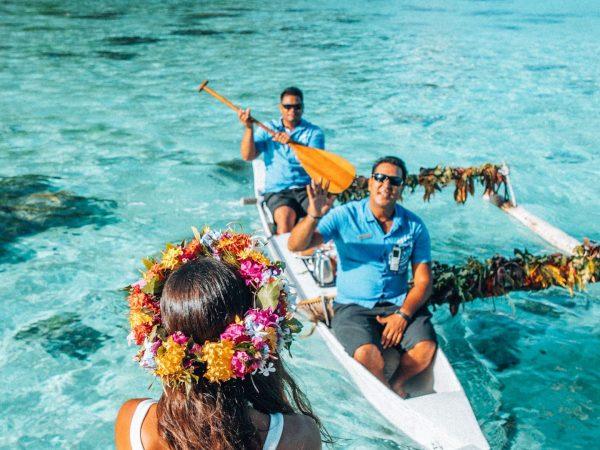 Hilton Moorea Lagoon Resort and Spa Canoe Breakfast