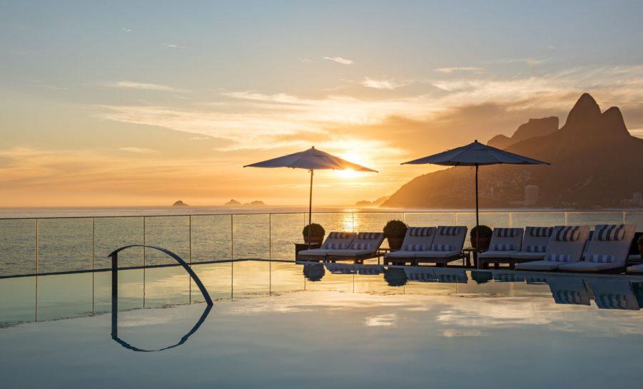 Hotel Fasano Rio De Janeiro Pool Sunset