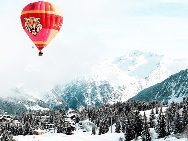 Hotel Barriere Les Neiges Hot Air Balloon