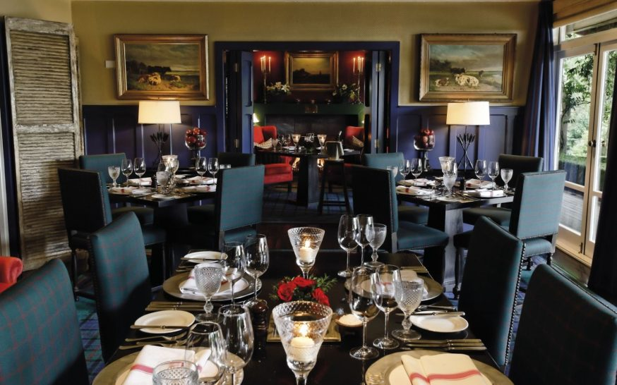 Huka Lodge Library dining