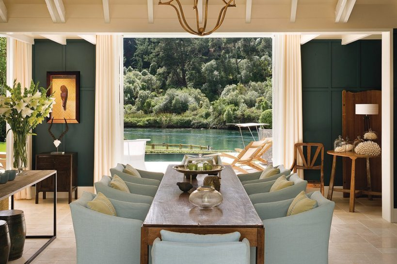 Huka Lodge New Zealand Alan Pye Cottage Dining