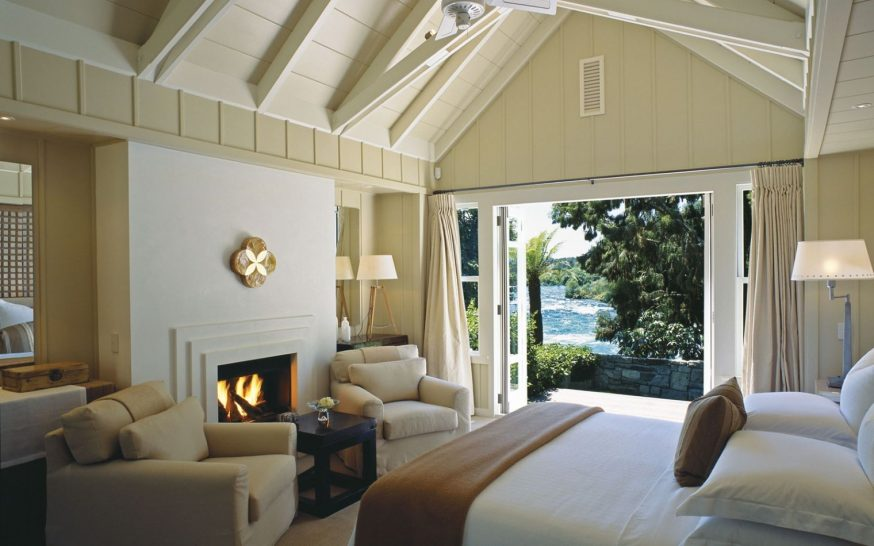 Huka Lodge New Zealand Owners Cottage Riverside Bedroom
