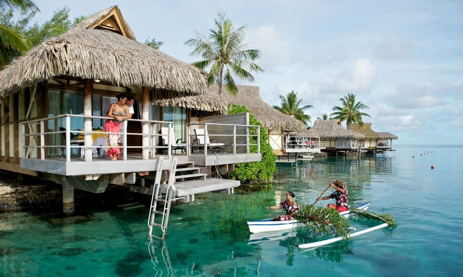 InterContinental-Moorea Resort Overwater bungalows