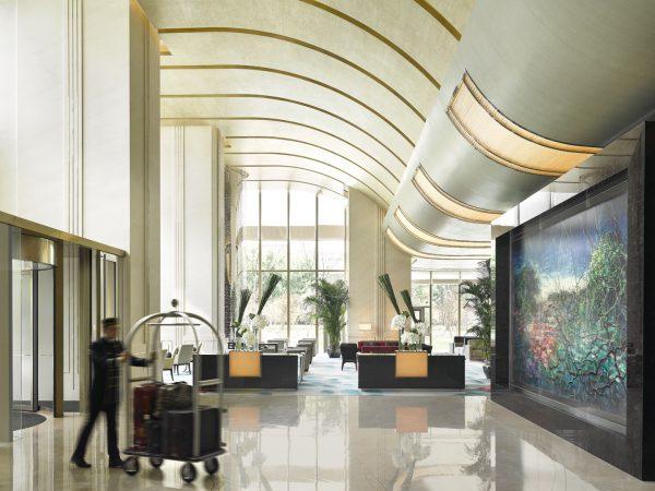 Jing An Shangri La West Shanghai Lobby Entrance