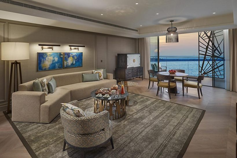 Mandarin Oriental Jumeira Dubai Two Bedroom Premiere Sea View Suite Living Room