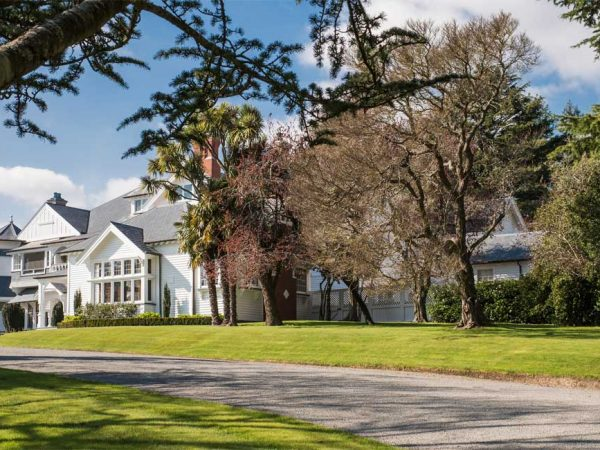 Otahuna Lodge Lodge From Driveway