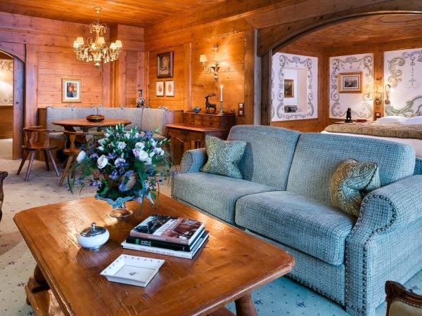 Palace Les Airelles Two Bedroom Suite on ski-run side'