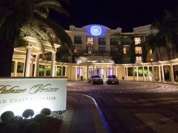 Palazzo Versace Gold Coast Night Lobby View