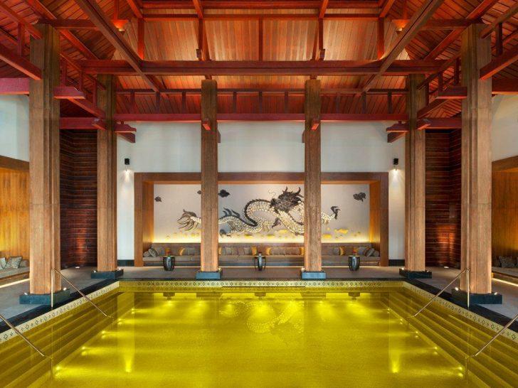 Pool at St Regis Lhasa Resort Tibet