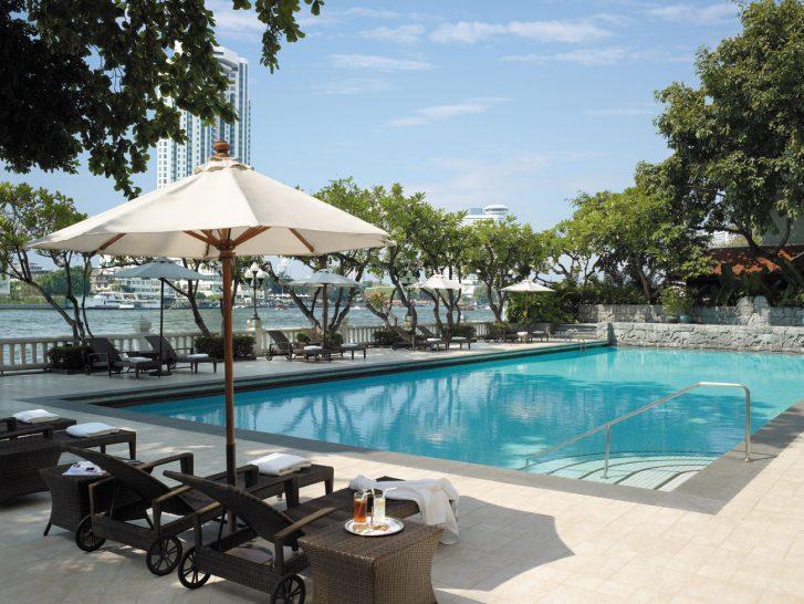 Shangri La Hotel Bangkok Swimming Pool Krungthep Wing