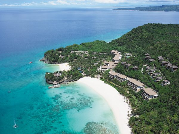 Shangri La's Boracay Resort And Spa Aerial View of the Resort