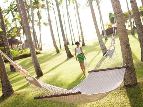 Shangri La's Boracay Resort And Spa Girl Walking on Alon Garden