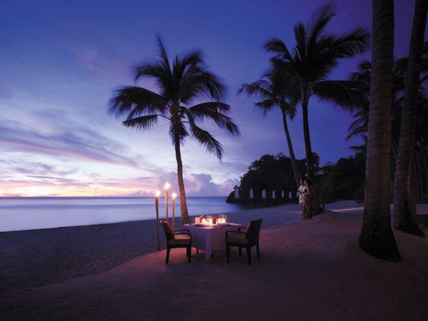 Shangri La's Boracay Resort And Spa Romantic Dinner