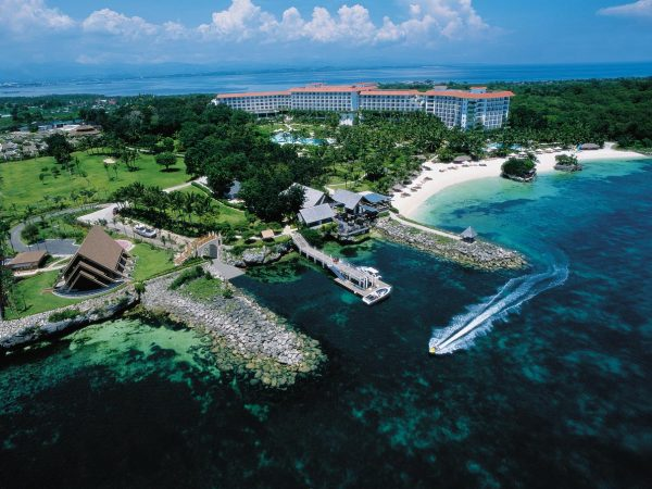 Shangri La's Mactan Resort and Spa Cebu Aerial Shot