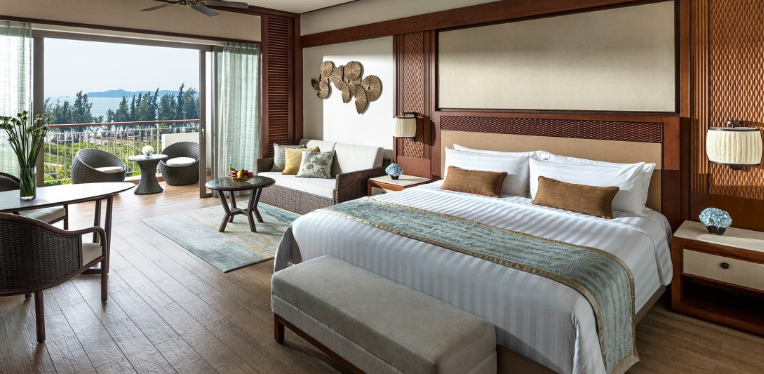 Shangri La's Sanya Resort and Spa Hainan Premier Sea View Room