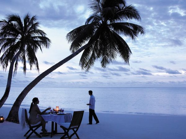 Shangri La's Villingili Resort and Spa Maldives Beach Night