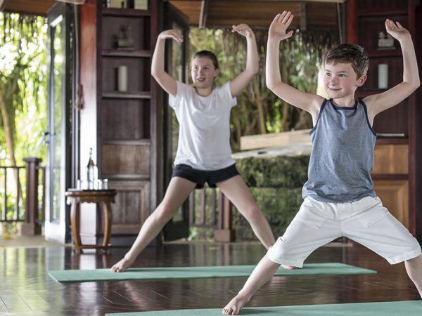 Shangri La's Villingili Resort and Spa Maldives Kids Yoga