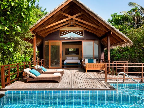 Shangri La's Villingili Resort and Spa Maldives Pool Villa
