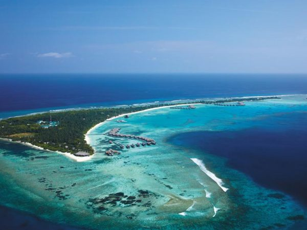 Shangri La's Villingili Resort and Spa Maldives Top View