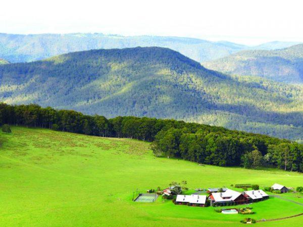 Spicers Peak Lodge Aerial View