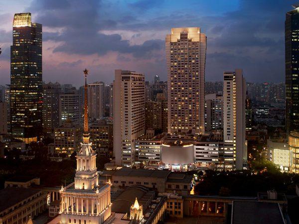 The Portman Ritz Carlton Shanghai Exterior Evening