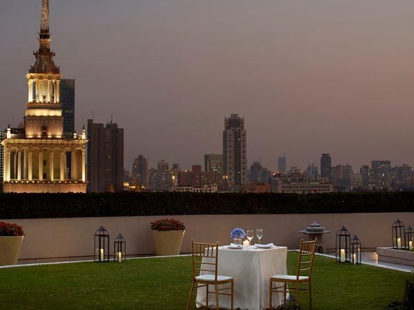 The Portman Ritz Carlton Shanghai Garden Terrace Table