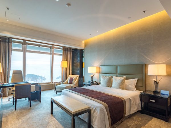 The Ritz Carlton Hong Kong Club Deluxe Seaview Room